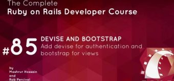 #76- Devise and Bootstrap in ruby on rails