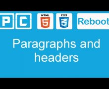 HTML5 and CSS3 beginners tutorial 3 – line breaks, paragraphs and headers