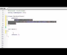 Buckys C++ Programming Tutorials – 12 – Introduction to Classes and Objects