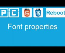 HTML5 and CSS3 beginners tutorial 13 – font properties