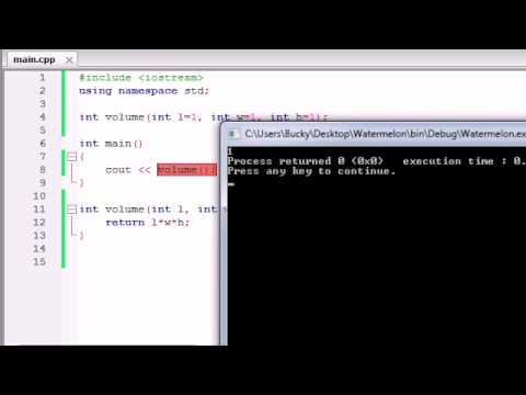 Buckys C++ Programming Tutorials – 28 – Default Arguments / Parameters