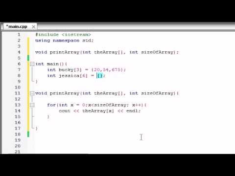Buckys C++ Programming Tutorials – 35 – Passing Arrays to Functions