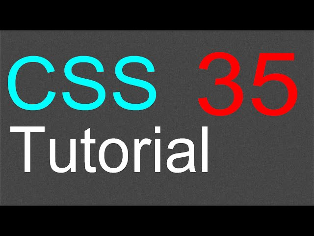 CSS Tutorial for Beginners – 35 – Fixed position for an element