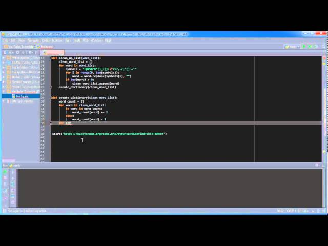 Python Programming Tutorial – 37 – Word Frequency Counter (3/3)