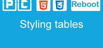HTML5 and CSS3 beginners tutorial 43 – styling tables