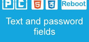 HTML5 and CSS3 beginners tutorial 45 – text and password fields