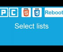 HTML5 and CSS3 beginners tutorial 46 – select lists